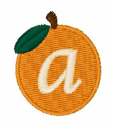 Stocking Fruit Font a embroidery design