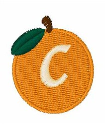 Stocking Fruit Font c embroidery design