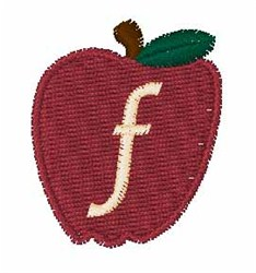 Stocking Fruit Font f embroidery design