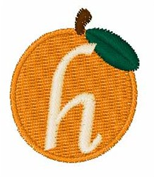 Stocking Fruit Font h embroidery design