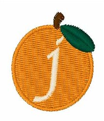 Stocking Fruit Font j embroidery design