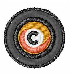 Vinyl Record FontC embroidery design