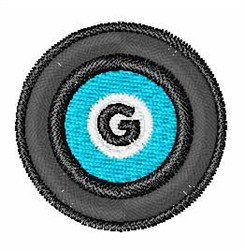 Vinyl Record Font G embroidery design