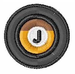 Vinyl Record Font J embroidery design