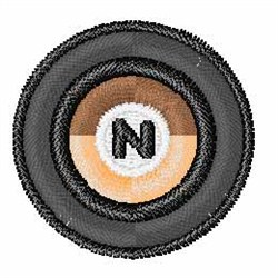 Vinyl Record Font N embroidery design