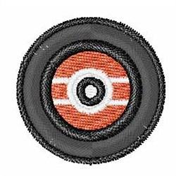 Vinyl Record Font O embroidery design