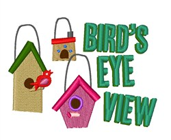 Birds Eye View embroidery design