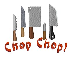 Chop Chop embroidery design