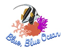 Blue Ocean embroidery design