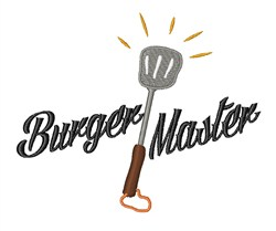 Burger Master embroidery design