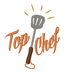 Top Chef embroidery design
