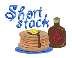 Short Stack embroidery design