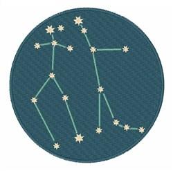Gemini Constellation embroidery design