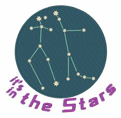 Gemini Constellation embroidery design