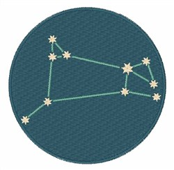 Aries Constellation embroidery design