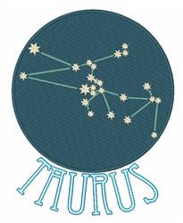 Taurus Constellation embroidery design
