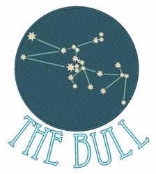 Taurus Constellation embroidery design