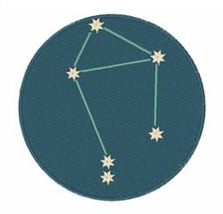 Libra Constellation embroidery design