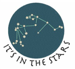 Aquarius Constellation embroidery design