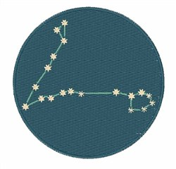 Pisces Constellation embroidery design