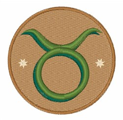 Taurus Sign embroidery design