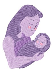 Mother Baby embroidery design