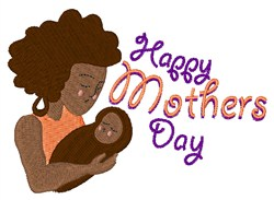 Happy Mothers Day Child embroidery design