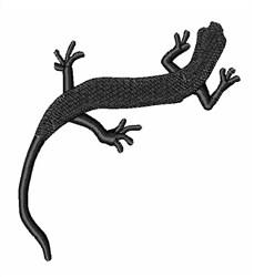 Lizard Silhouette embroidery design