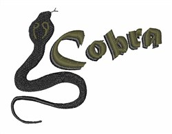 Cobra embroidery design