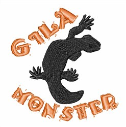 Gila Monster embroidery design
