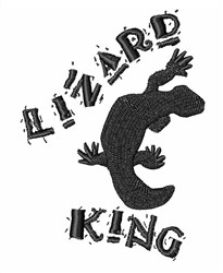 Lizard King embroidery design