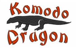 Komodo Dragon embroidery design
