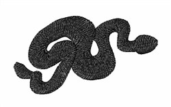Snake Silhouette embroidery design