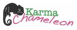 Karma Chameleon embroidery design