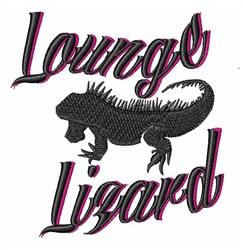 Lounge Lizard embroidery design