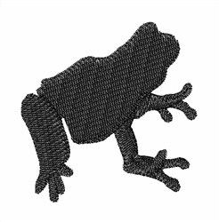 Frog Sihlouette embroidery design