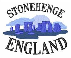 Stonehenge England embroidery design