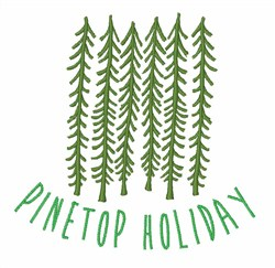 Pinetop Holiday embroidery design