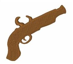 Flint Pistol Silhouette embroidery design