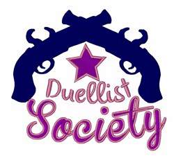Duellist Society embroidery design