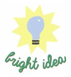 Bright Idea embroidery design