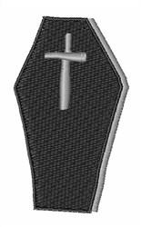 Coffin with Cross embroidery design