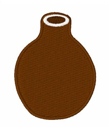 Brown Vase embroidery design