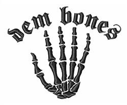Dem Bones embroidery design