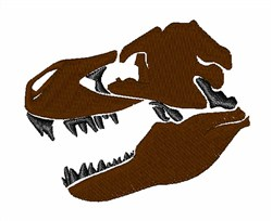 T-Rex Skull embroidery design
