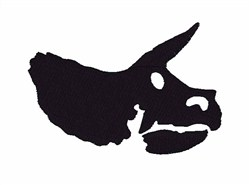 Triceratops Skull embroidery design