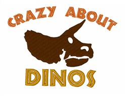 Crazy About Dinos embroidery design