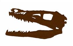 Velociraptor Skull embroidery design