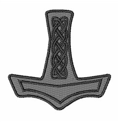 Norse Hammer embroidery design