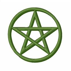 Pentagram embroidery design